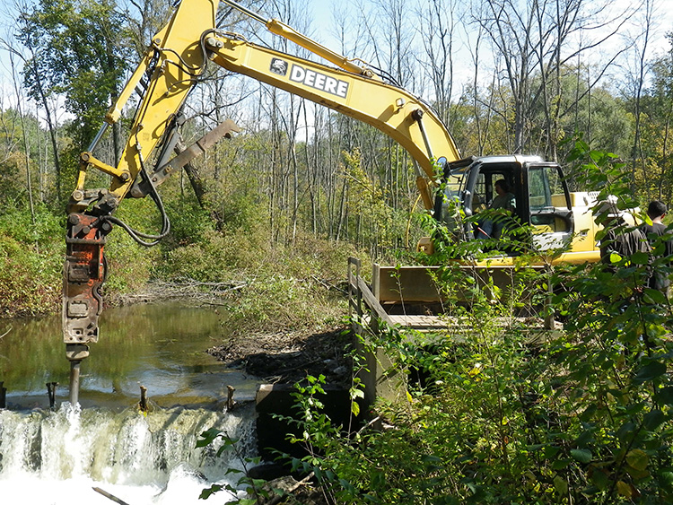 Dam removal in the Clinton River watershed restores fish habitat.