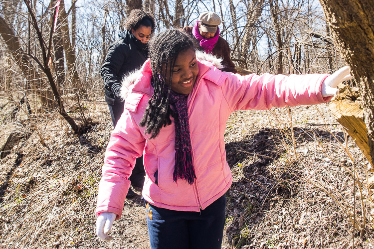 Attending a hike with Detroit Inspiring Connections Outdoors at Rouge Park. Photos by David Lewinski
