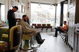 The original Detroit Barbers location in Ferndale