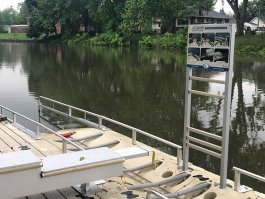 EZ-Dock. Photo courtesy Clinton River Watershed Council.