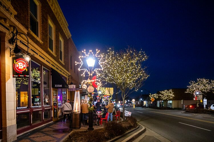 Downtown Farmington has been providing businesses free propane for outdoor heaters