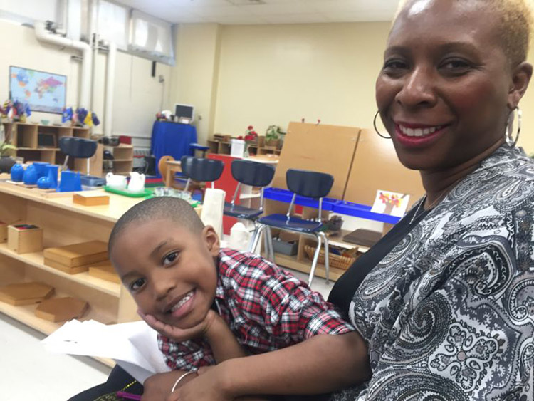 "Teacher Yolanda King enrolled son Carlton, 4, in a Detroit public schools when the district started offering Montessori instruction.""[It shows they're] looking at different ways to educate, to kind of give something back instead of taking something a"