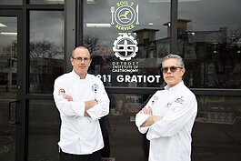 Jeremy Abbey and John Piazza, co-founders and executive directors of Detroit-based culinary arts nonprofit Soil2Service.
