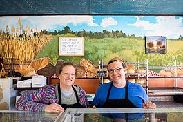Sunflour owners Becky Burns & Jeff Pavlik. Photo by David Lewinski,