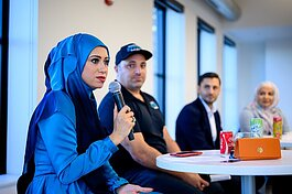 manda Saab, Zee Shami, Sam Haider, and Sam Abbas discuss the future of Dearborn Resturants, and food within the community at the Dearborn City Open, September 26th, 2019.