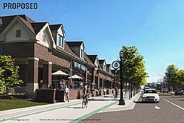 Rendering of proposed downtown Wixom trail segment.