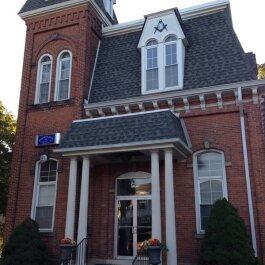 Masonic Lodge, at Grand River and Farmington Rd.
