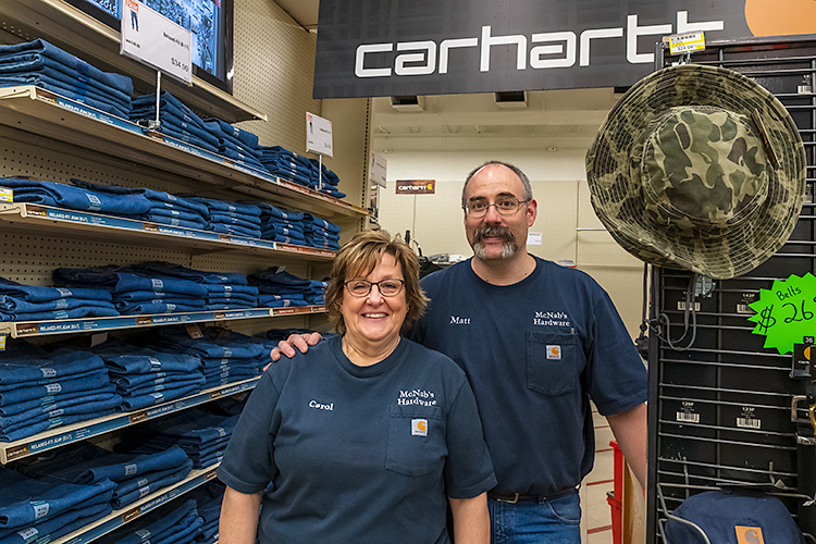 Matt and Caroll Lafferty, McNabs Hardware