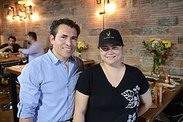 Junior & Heidi Merino, owners of M Cantina in Dearborn.