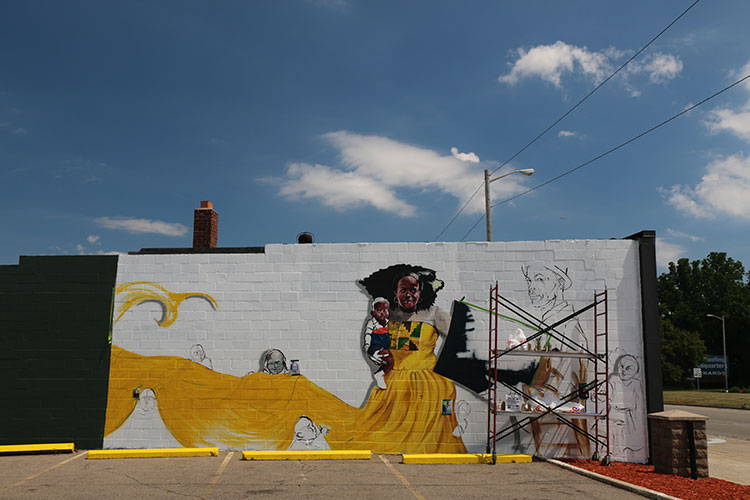 Mural located at 27344 Michigan Ave. Photo by Micah Walker.