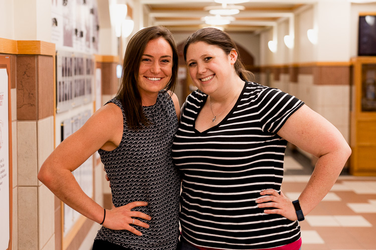 Mary LeAnnais, Assistant Director of the Emerging Leaders Program at UD Mercy, and Molly Sullivan, Coordinator of the Ford Community Corps Partnership.