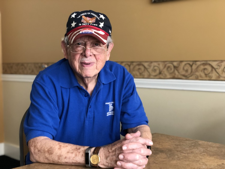 Paul Landsberg is 96-years old and served in the U.S. Navy during WWII.