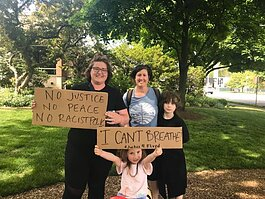 Protesters in Royal Oak. Courtesy Summer March via Facebook.