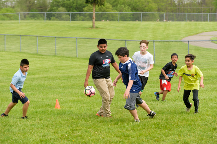 Soccer for Success at Owen Elementary. Photo by Doug Coombe.