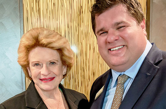 Sen. Stabenow with Brent Wirth