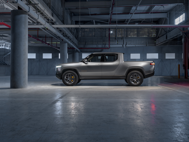 The Rivian R1T pickup is one of two vehicles revealed at the 2018 LA Auto Show.