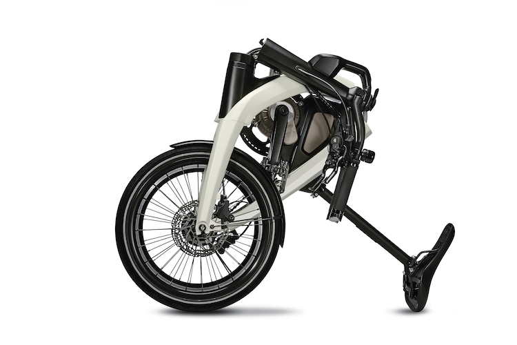 One version of the GM eBike folds to a compact size.