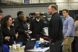 Parents and students connect with high-tech companies to explore future career pathways.