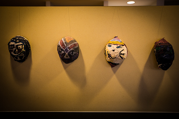 Mercedes-Benz Financial Services sponsors Art Road Nonprofit in order to help bring art class back to Detroit Public Schools. These paper mache masks were made by elementary school students as part of this program