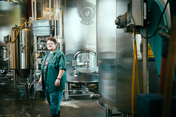 Angie Williams at Griffin Claw Brewery