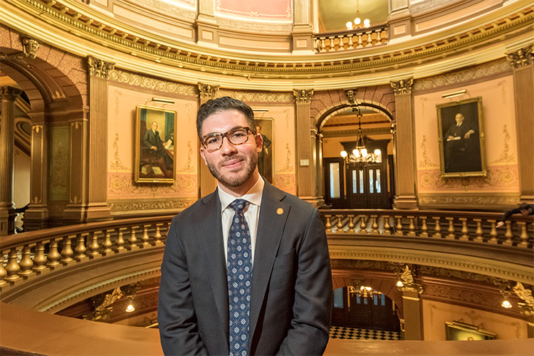 Abdullah Hammoud at the Michigan State Capitol