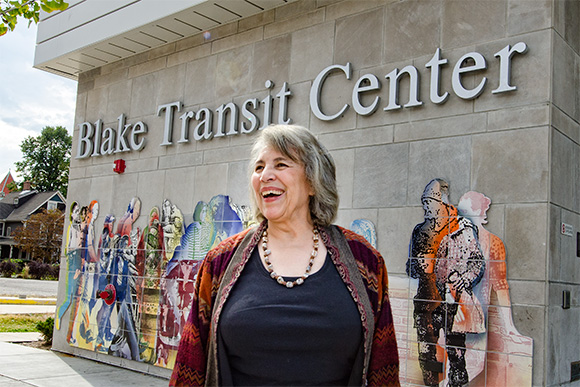Alma Wheeler Smith at the Blake Transit Center