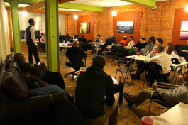 A discussion at Bamboo Detroit