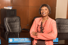 Pontiac Councilwoman Doris Taylor Burks at Pontiac City Hall