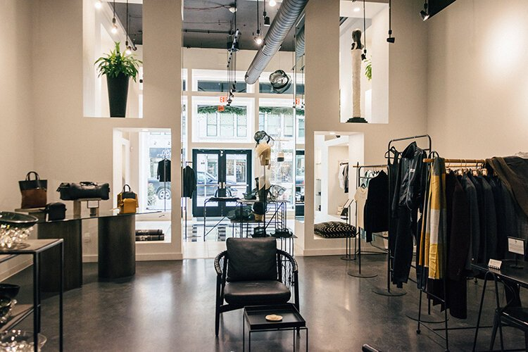 The flagship Detroit is the New Black store on Woodward Avenue.