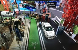 Ford's Living Street display at CES 2018 showcases the City of Tomorrow.