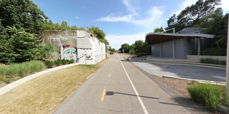 The Dequindre Cut in Detroit.