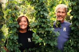 Marie and John Powers, owners of HomeGrown Brewing