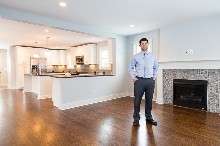 John Farhat in a home he built in Royal Oak