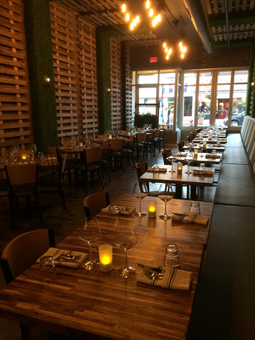 The dining area at GreenSpace Cafe in Ferndale