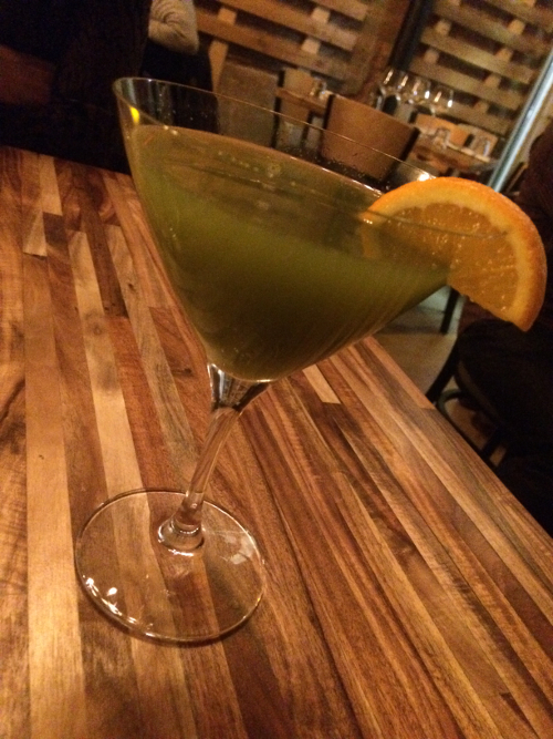 The Greenhouse, a signature cocktail at GreenSpace Cafe
