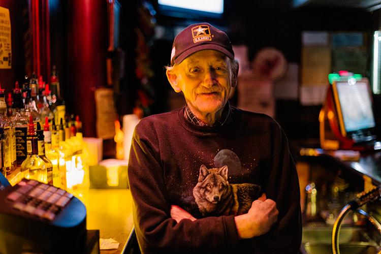 Archie, bartender at the Gold Star Bar in Wyandotte