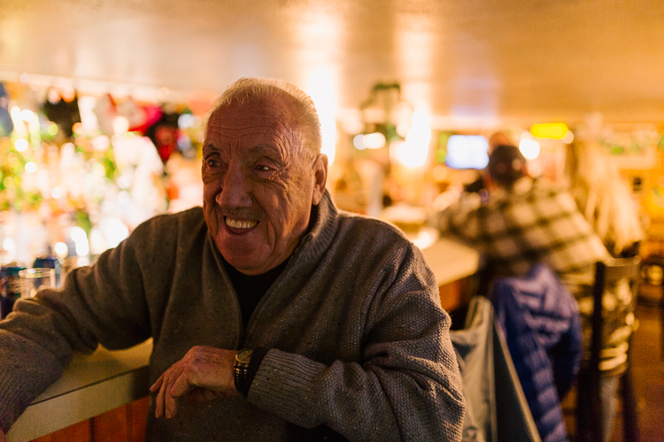 Ronnie D is a regular who has been going to Frank's Eastside Tavern since 1970