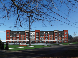 A rendering of District Lofts in Milford