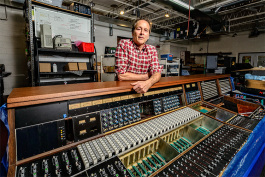 Mike Nehra, co-owner of Vintage King Audio in Ferndale