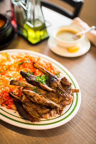 Lamb on bone at Sheeba Restaurant in Dearborn