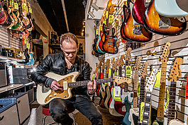 Motor City Guitar employee and musician Sean Lynch