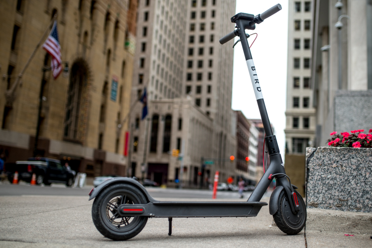 Shared scooters joined Detroit's many mobility choices this summer