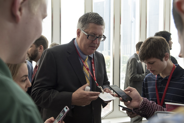 Students connect with mobility industry experts at the MICHauto Summit during Mobility Week Detroit