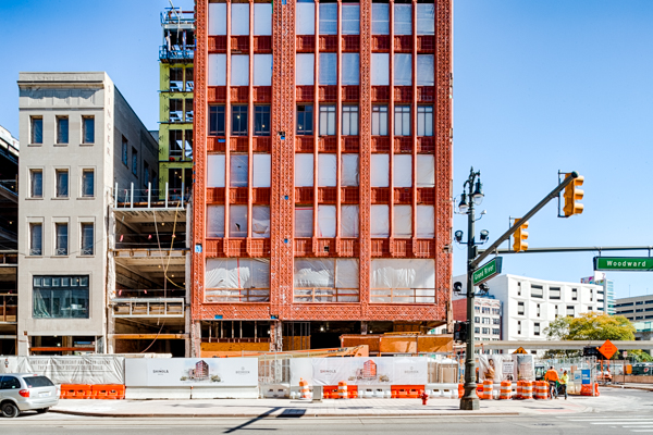 Shinola Hotel, under construction