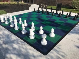 Chess Set outside Sterling Heights Public Library