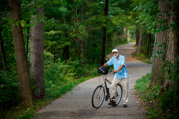 Mike Norton on Boardman Lake portion of the TART Trail (Traverse City)