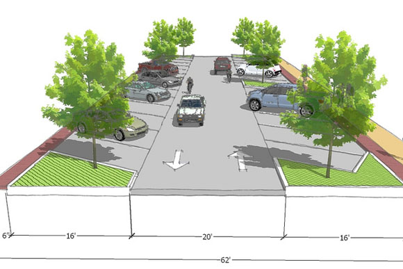Proposed plans for Mission Street in Mt. Pleasant.