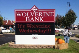 Wolverine Bank invites you to stop in for financial services.