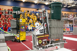 FIRST Robotics competition in Michigan.