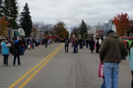 Downtown Shepherd, Michigan during a Trunk or Treat event in 2014.